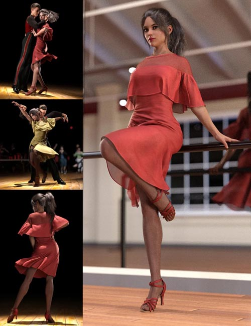 dForce Dancer Dress and Poses For Genesis 8
