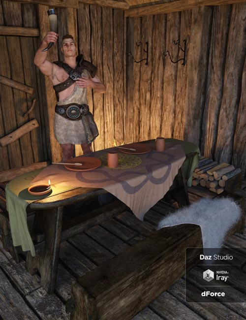 Viking Longhouse Vignette