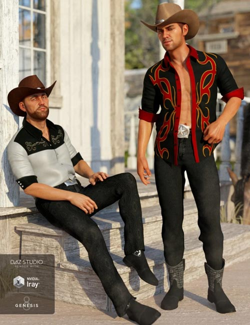 dForce Caballero Outfit Textures