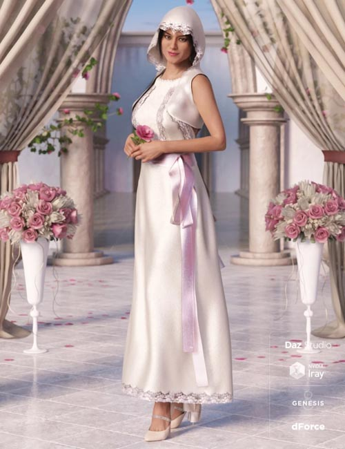dForce Latin Wedding Dress for Genesis 8 Female(s)