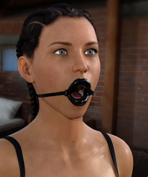 Open Wide Gag For Genesis 8 Female