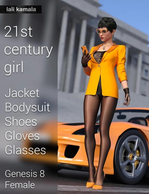 21st Century Girl Outfit for Genesis 8 Female(s)