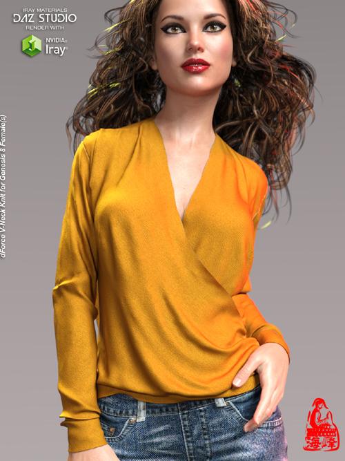 dForce V-Neck Knit for Genesis 8 Female(s)