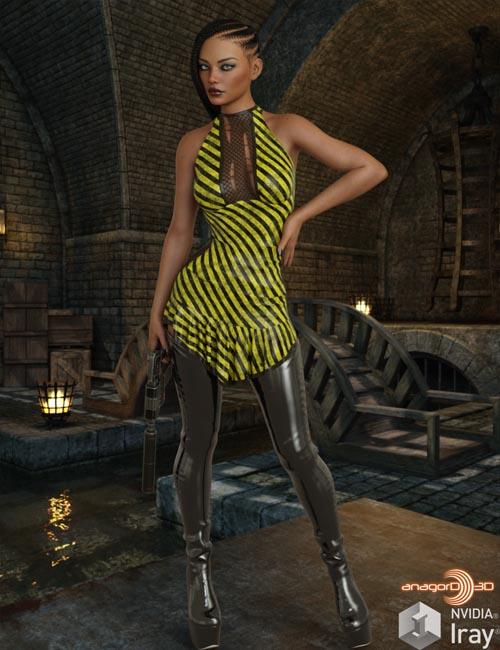 VERSUS - dForce Untamed Dress for Genesis 8 Females