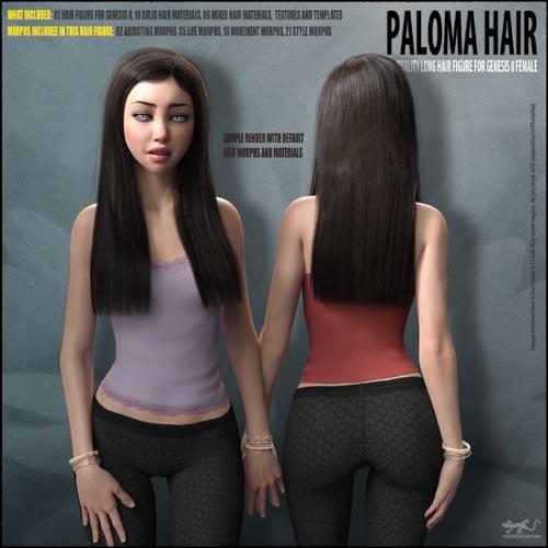Paloma Hair for Genesis 8 Female