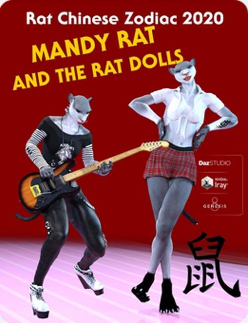 Mandy Rat For Genesis 8 Female