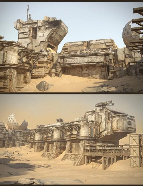 Sci-Fi Abandoned Outpost