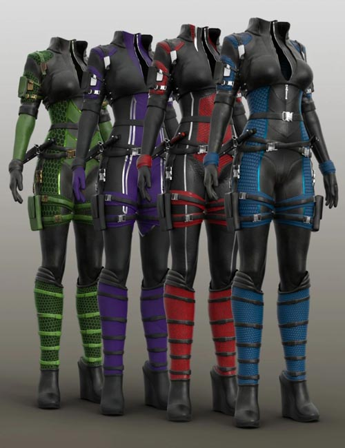 Trinity Wolf Outfit Textures