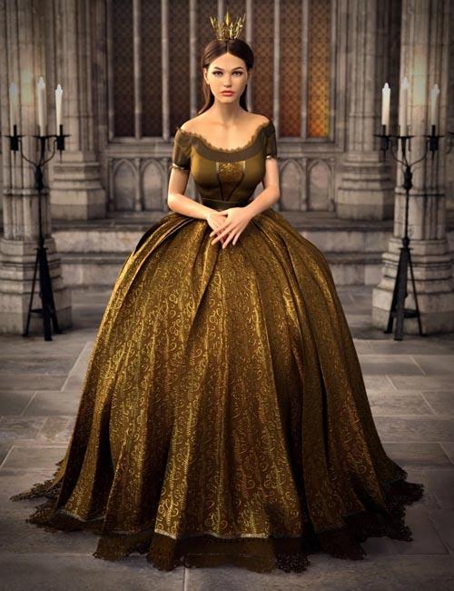 dForce Gown of Fantasy 2 for Genesis 8 Female(s)