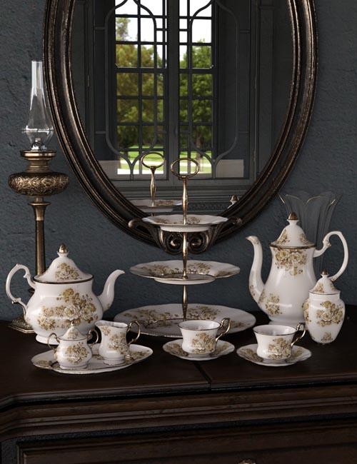 Vintage Tea Service Iray