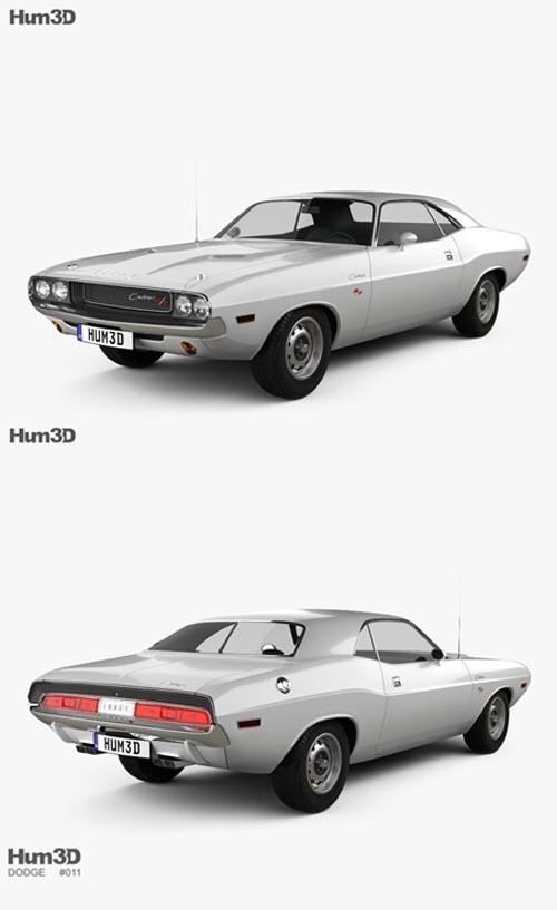 Dodge Challenger 1970 3D model