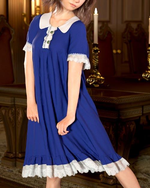Lantern Sleeve Dress for Genesis 8 Female