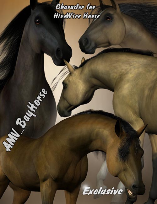 AMV BayHorse for the HiveWire Horse - DAZ Studio