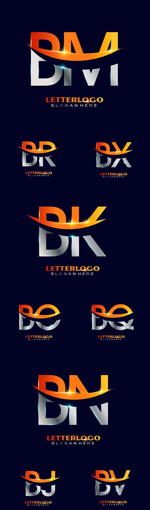 Initial letter and Brand name company logos design 2