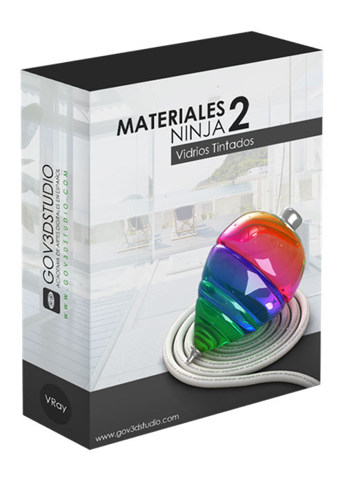 Vray Tinted Glass Materials for 3ds Max