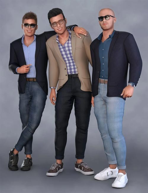 dForce Modern Shirt and Blazer Outfit for Genesis 8 Male(s)
