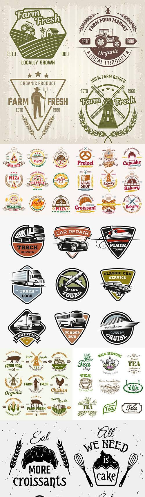 Vintage logo and emblem brand Name Company design 3