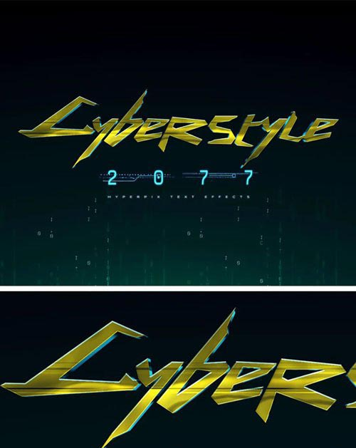 Cyberpunk 2077 Photoshop Text Effect