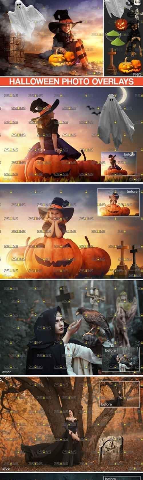Photoshop overlay & Halloween clipart pumpkin clipart - 839401