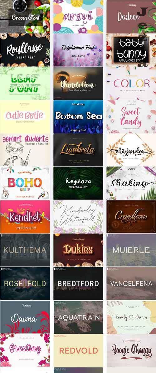 Mix Font Bundle 36 - 36 Premium Fonts