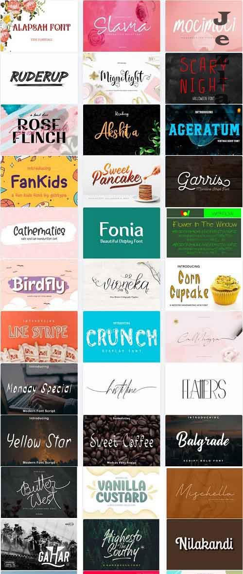 Mix Font Bundle 38 - 36 Premium Fonts