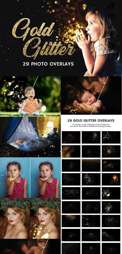 29 Gold Glitter Photo Overlays 27028182