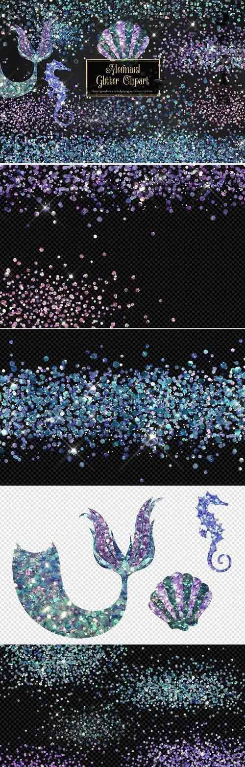 Mermaid Glitter Clipart - 5298467