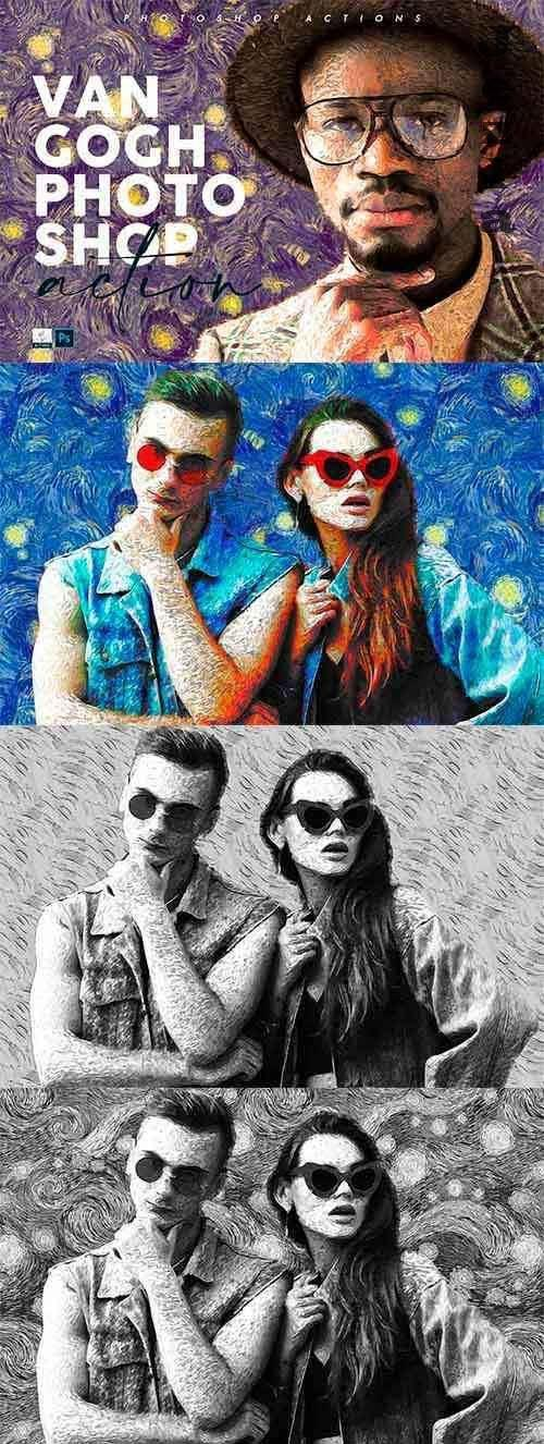 Van Gogh Painting Photoshop Action 4765073