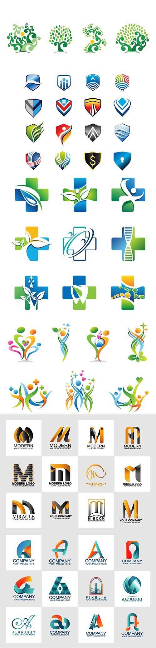 Logo vector template business set # 85