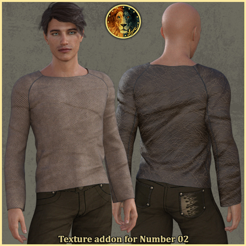 Texture addon for Number 02 outfit for G8M