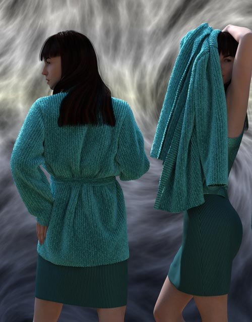 dForce Soft Sweaters Outfit for Genesis 8 Female