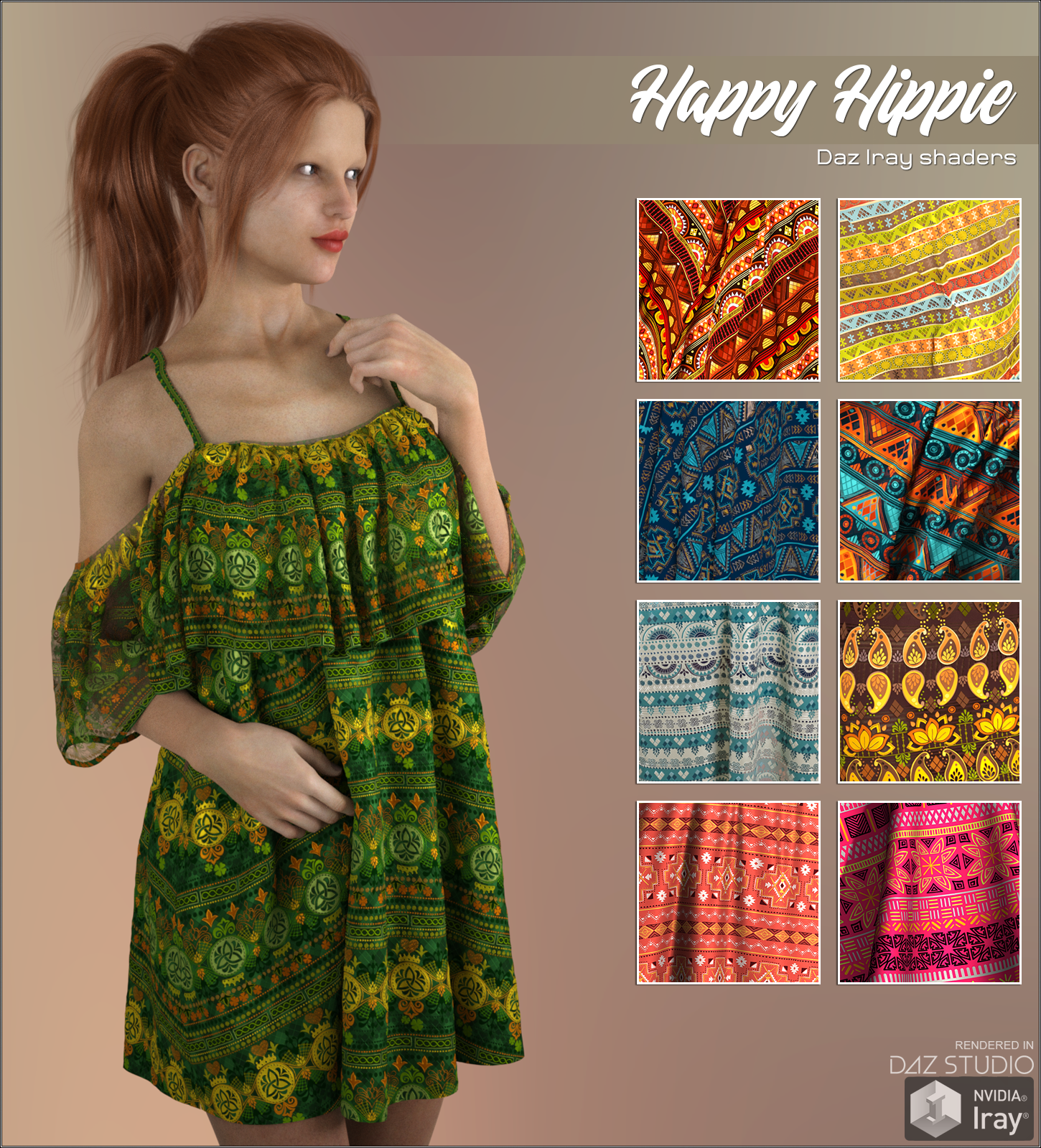 Daz Iray - Happy Hippie