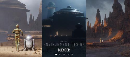 Gumroad – Real-time Environment Design in Blender by Jama Jurabaev