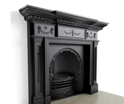 Fireplace Stovax William IV Cast Iron Mantel (cast iron portal)