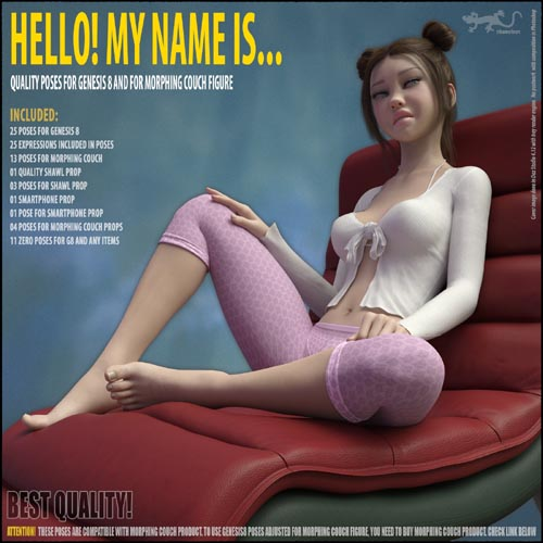 Hello! My Name Is... - Poses for Genesis 8. Part I