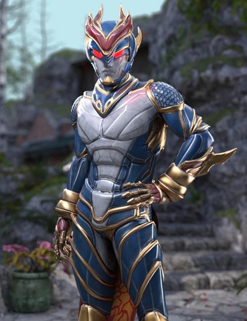 Qinglong - The Blue Dragon Outfit for Genesis 8 Male