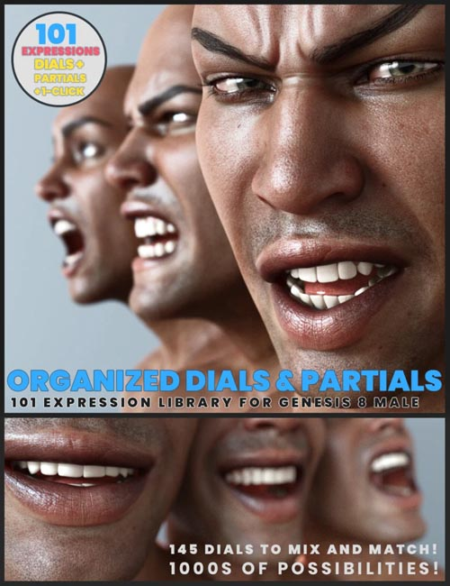 101 Expression Library with Dials for the Genesis 8 Male