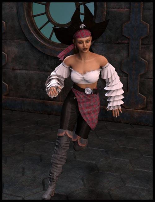 dForce La Flibustiere Style for Genesis 8 Female(s)
