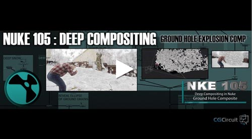 CGCircuit – NKE 105 – Deep Compositing in Nuke – Ground Hole Composite