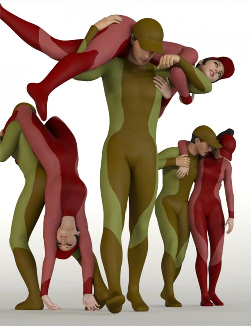 People Carrying People Volume 2 for Genesis 8
