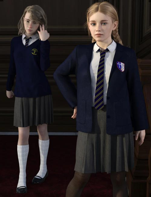 dForce Time For School for Genesis 8 Females