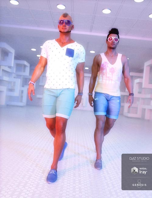 Model Magazine Poses for Genesis 3 and 8 Male(s)