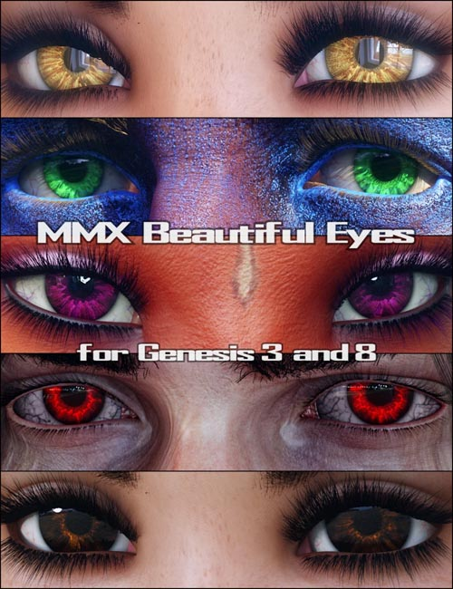 MMX Beautiful Eyes for Genesis 3 and 8