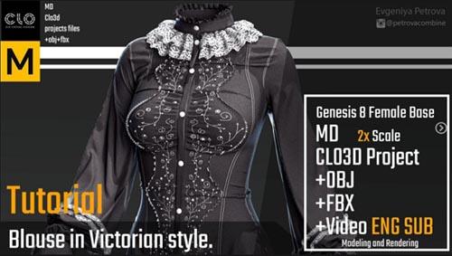 ArtStation - Victorian blouse Tutorial by Evgeniya Petrova