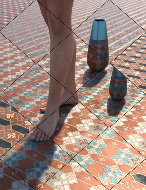 Medieval Inspired Floor Tile Shaders Vol 5