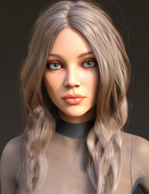 Arlene Hair for Genesis 3 and 8 Females