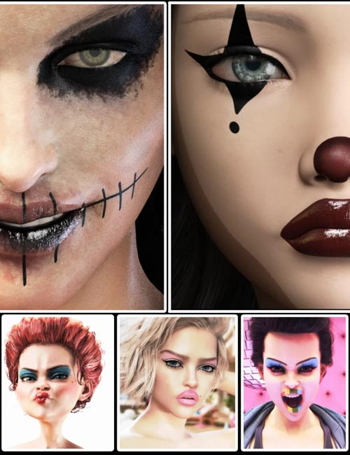 Artistic Make-up Concepts for Genesis 8 Females