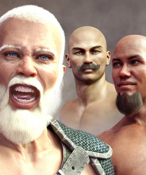 Facial Hair and Short Hair for Genesis 8 Male(s)