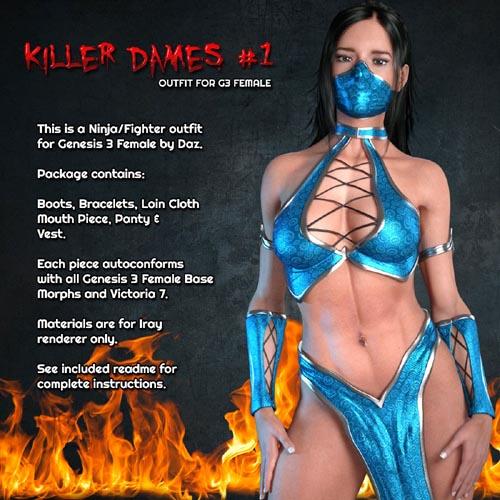 Exnem Killer Dames 1 for Genesis 3 Female
