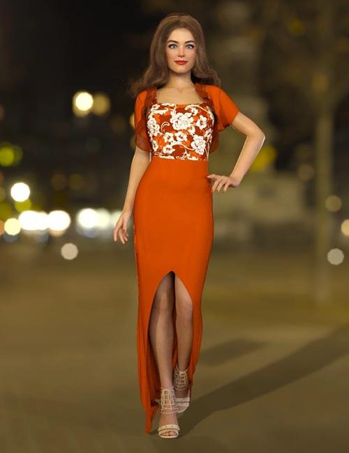 dForce Flor Dress for Genesis 8 Female(s)